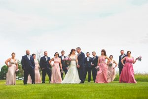 Bridal party, groomsmen, bridesmaids